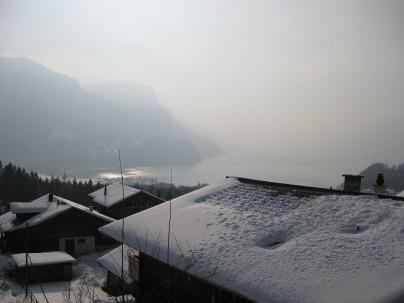 Sonnige Aussichten von der Terrasse des Ferienhauses Sonnhalde